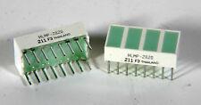 LED Light Bar - 4 Segment - Green - HLMP-2820 -  5 Pieces