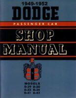 1949 1950 1951 1952 Dodge Shop Service Repair Manual