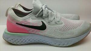 Nike Epic React Flyknit Pure Platinum Grey Pink Green AQ0067-007 Men's 11 Shoes