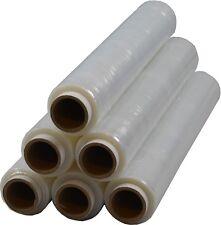 6 x Rollen Stretchfolie Palettenfolie Verpackungsfolie 23 my 1,5 kg Transparent