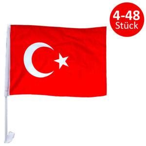 Türkei Autofensterfahne Türkiye Fahne Türkische Bayrak Fahnen für Auto Flagge