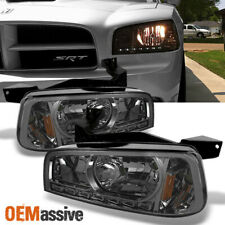 Fit 2006 2007 2008 2009 2010 Dodge Charger Smoke Replacement LED Headlights