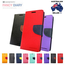 Samsung Galaxy Note 3/4/5/7/Edge Mercury PU Leather Wallet Hard Flip Cover Case