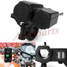 Motorcycle Waterproof GPS 4.2A 2-Port USB Port Outlet Power Charger Socket 12V