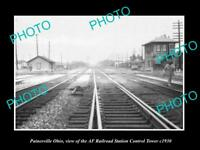 OLD LARGE HISTORIC PHOTO OF PAINESVILLE OHIO THE RAILROAD STATION TOWER c1930