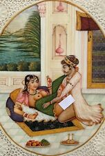 ANTIQUE HAND PAINTED PORTRAIT MINIATURE PAINTING india indian