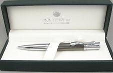 Monteverde Jewelria Executive Gunmetal Barley & Chrome Ballpoint Pen -New In Box