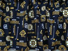 "Boston Bruins Black and Gold Hockey Handmade Valance 40"" wide x 13"" long"
