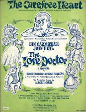 "Joan Heal ""LOVE DOCTOR"" Ian Carmichael (Carefree Heart) 1959 London Sheet Music"