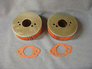 NEW TRIUMPH SPITFIRE MK 1 TO 4 PAIR OF AIR FILTERS AND GASKETS