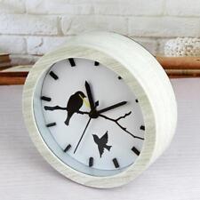 Classic Quiet Vintage Wood Bedside Alarm Clock Waterproof Cute Pattern #8