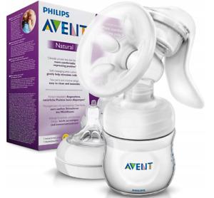 Philips Avent Manual Breast Milk Pump Feeding Bottle BPA Free Silicone 125ml
