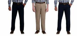 Haggar Ultimate Travel Mens Khaki Pants