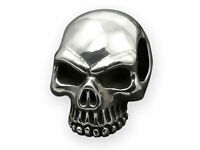Edelstahl Totenkopf Ketten Anhänger Herren Keith Richards Skull Schädel silber