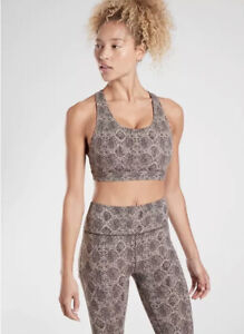 NEW! Athleta D-DD Quail Ultimate Snake Sports Bra Yoga Top Size Small #531136