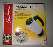 Sunbeam 2524 200-Watt 6-Speed Hand Mixer, White with Black Accents(Box Damaged)