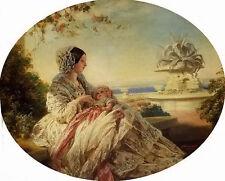 Oil painting franz xavier winterhalter - queen victoria with prince arthur child
