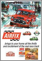 Airfix Mini Cooper Monte Carlo Rally Set 1967 Poster Advert Sign Slot Car Racing