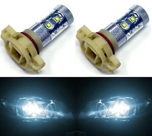 LED 50W 12085 5201 PS19W White 6000K Two Bulbs DRL Daytime Light Replace OE
