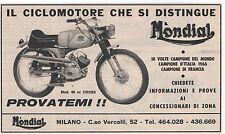 Pubblicità epoca MOTO MONDIAL MILANO MOTOR old advert werbung publicitè reklame