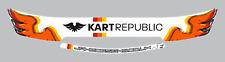 KART REPUBLIC STYLE HELMET VISOR STICKERS - STRIPS - KARTING