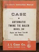 CASE Automatic Twine Tie Baler Operators Instruction Manual