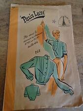ANCIEN  PATRON * PARIS LUXE*CHEMISIER A PLIS COUCHES  TAILLE 44  1940/50