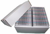 CD Storage Box Case Unit Organiser INCLUDING Lid **4 Pack Deal** Holds 40 Cd's