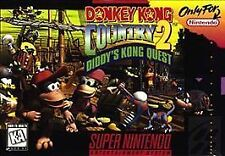 DONKEY KONG COUNTRY 2 TWO II SNES SUPER NINTENDO GAME NES HQ
