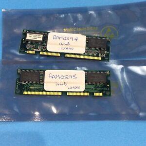 Pair of Vintage HP LJ4000 16MB RAM – Unbranded P/N: 4A01600266/587 100-Pin DIMM