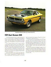 1971 Dodge Dart Demon Article - Must See !!