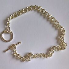 """Charm bracelets wholesale Silver plated 7.5"""" multiples of 50. Flower toggle."""