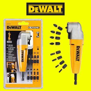 "DEWALT DT71517T 1/4"" Impact Right Angle Cordless Drill Chuck, 9 Screwdriver Bits"