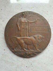 WWI MEMORIAL PLAQUE - 56th BN SOLDIER - KIA 1918