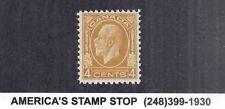 1932 Canada SC 198 4c KGV King George V Medallion MH Mint*