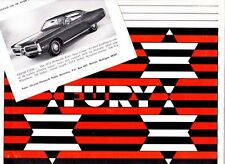 1972 PLYMOUTH FURY US Press Release Kit GRAN COUPE