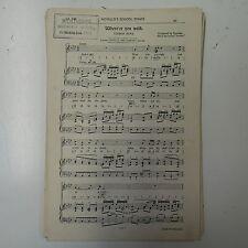 Choral / VOCAL SCORE where`er si passeggia Handel compatti