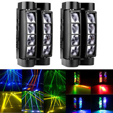 2Pcs 80W Rgbw 8Led Spider Moving Head Stage Lighting Beam Dmx Disco Party Dj