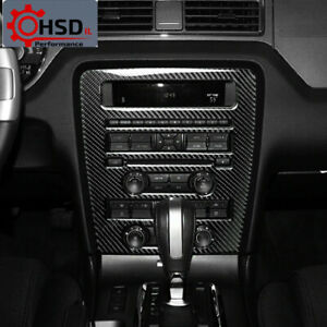 Carbon Fiber Center Control CD Panel  Interior Cover For Ford Mustang 2009-2013