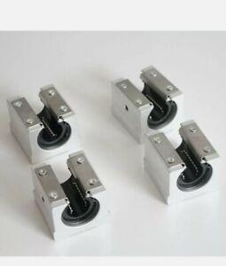 4×SBR16UU 16mm Aluminum Open Linear Motion Bearing Slide Unit for Linear Rail