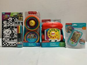 fisher price learning toys & rose art fuzzy poster  lot of 4