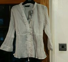 Florence and Fred white ruffle blouse/shirt - size 18