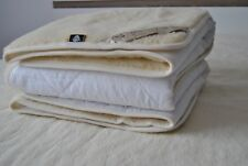 100% Merino Wool & Cotton Under blanket Mattress Topper Pad Double 140 / 200cm