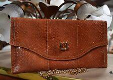 Louis Féraud Designer Clutch echt Leder Handtasche Tasche 70er TRUE VINTAGE Bag