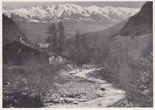 D3524 Il Torrente Cenischia - Veduta generale - Stampa d'epoca - 1940 old print