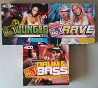 The No.1 Drum & Bass, Rave and Jungle - Box Set CD Albums Bundle x 3