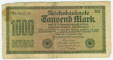 Banknote Deutsches Reich 1000 Mark 1922 Ro. 75k