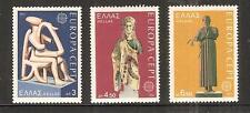 GREECE # 1109-1111 MNH STATUES, Harpist of Keros, Europa: Charioteer of Delphi..