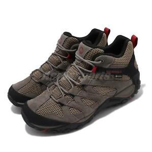 Merrell Alverstone Mid GTX Gore-Tex Boulder Red Men Outdoors Shoes Boots J033023