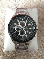 Casio Black EdificeEF-539D-1AVEF Mens Steel Chronograph Watch Brand New & Boxed